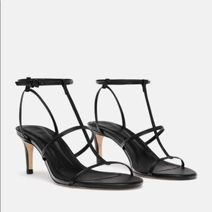 NWT Zara high-heeled leather sandals